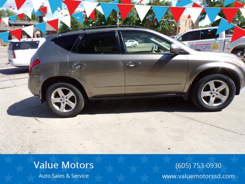 2003 Nissan Murano for sale at Value Motors in Watertown SD