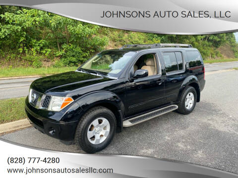 2007 Nissan Pathfinder for sale at Johnsons Auto Sales, LLC in Marshall NC