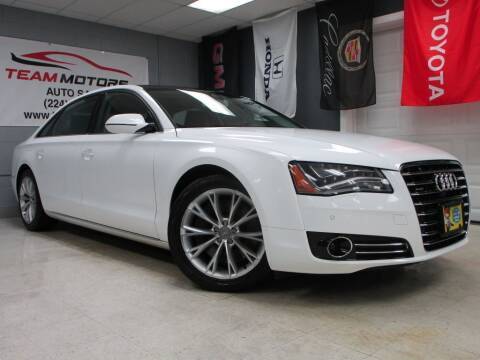 2012 Audi A8 L for sale at TEAM MOTORS LLC in East Dundee IL