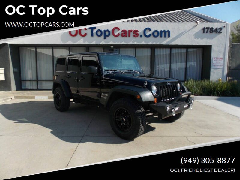 2013 Jeep Wrangler Unlimited for sale at OC Top Cars in Irvine CA