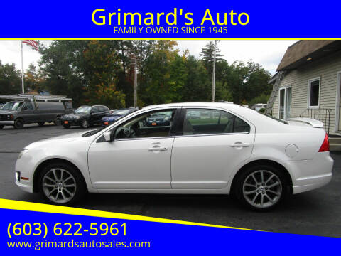2010 Ford Fusion for sale at Grimard's Auto in Hooksett, NH
