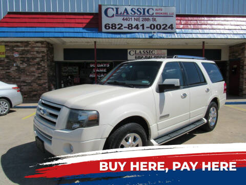 2007 Ford Expedition for sale at Classic Auto Brokers in Haltom City TX