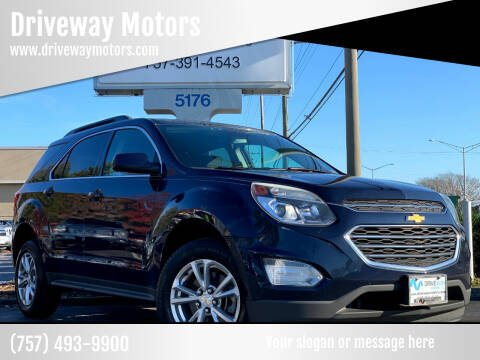 2016 Chevrolet Equinox for sale at Driveway Motors in Virginia Beach VA