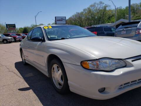 2003 Chevrolet Monte Carlo for sale at Gordon Auto Sales LLC in Sioux City IA