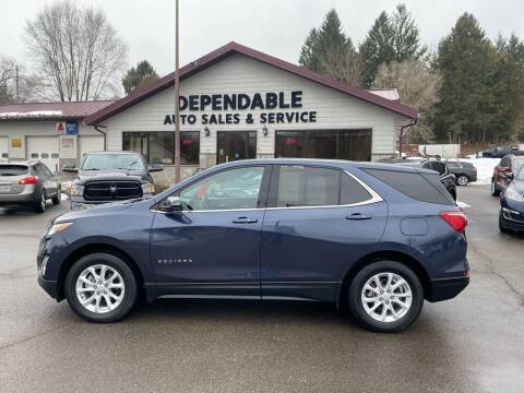 2018 Chevrolet Equinox for sale at Dependable Auto Sales and Service in Binghamton NY