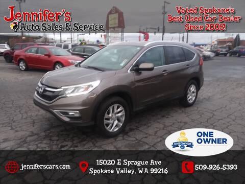 2015 Honda CR-V for sale at Jennifer's Auto Sales in Spokane Valley WA