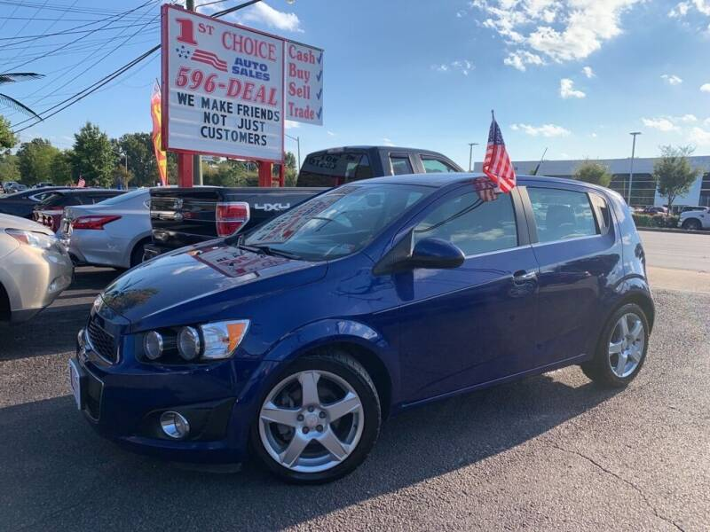 2013 Chevrolet Sonic for sale at 1st Choice Auto Sales in Newport News VA