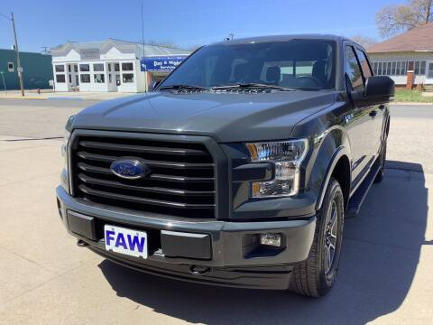 2017 Ford F-150 for sale at Faw Motor Co - Faws Garage Inc. in Arapahoe NE
