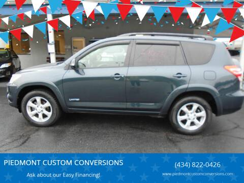 2010 Toyota RAV4 for sale at PIEDMONT CUSTOM CONVERSIONS USED CARS in Danville VA