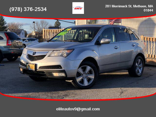 2011 Acura MDX for sale at ELITE AUTO SALES, INC in Methuen MA