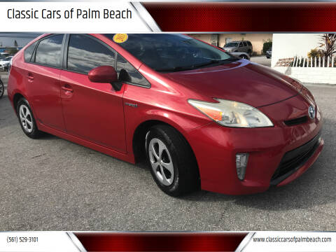 2013 Toyota Prius for sale at Classic Cars of Palm Beach in Jupiter FL