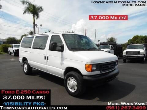 2007 Ford E-250 for sale at Town Cars Auto Sales in West Palm Beach FL