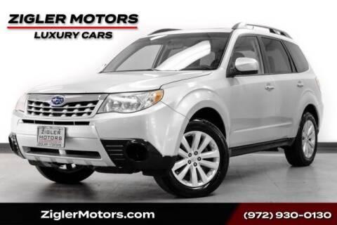 2011 Subaru Forester for sale at Zigler Motors in Addison TX
