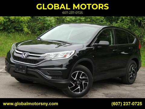 2016 Honda CR-V for sale at GLOBAL MOTORS in Binghamton NY