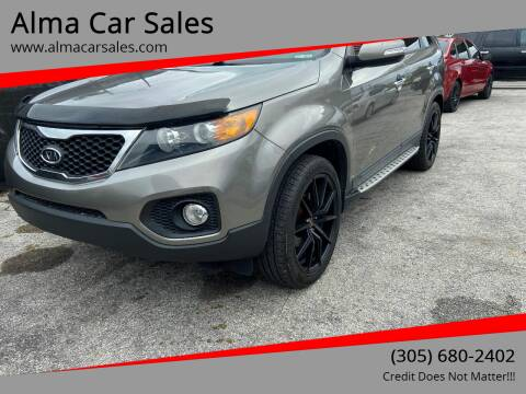 2013 Kia Sorento for sale at Alma Car Sales in Miami FL