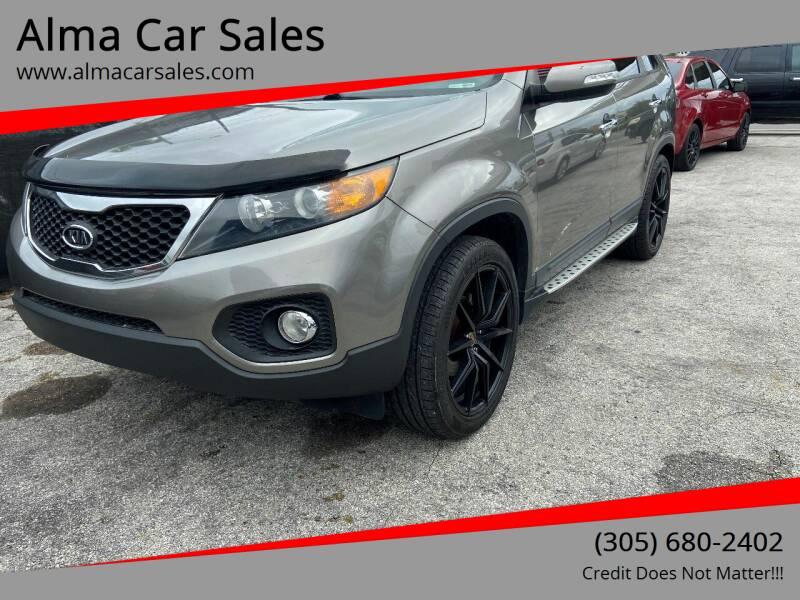 2013 Kia Sorento for sale at Alma Car Sales in Miami FL