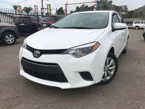2016 Toyota Corolla for sale at Vtek Motorsports in El Cajon CA