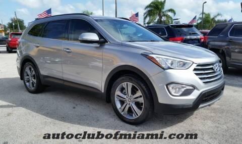 2016 Hyundai Santa Fe for sale at AUTO CLUB OF MIAMI in Miami FL