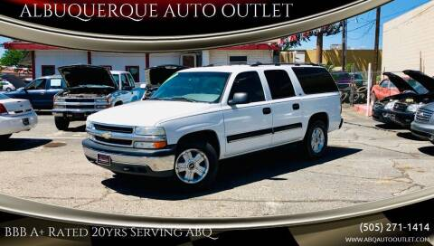 2001 Chevrolet Suburban for sale at ALBUQUERQUE AUTO OUTLET in Albuquerque NM