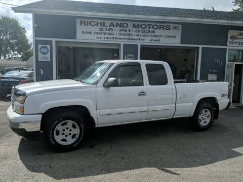 2007 Chevrolet Silverado 1500 Classic for sale at Richland Motors in Cleveland OH