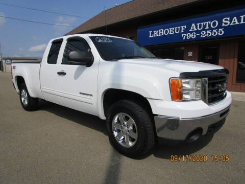2011 GMC Sierra 1500 for sale at LeBoeuf Auto Sales in Waterford PA