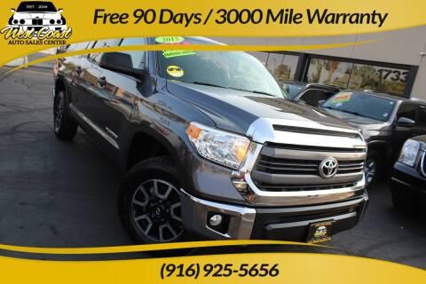 2015 Toyota Tundra for sale at West Coast Auto Sales Center in Sacramento CA