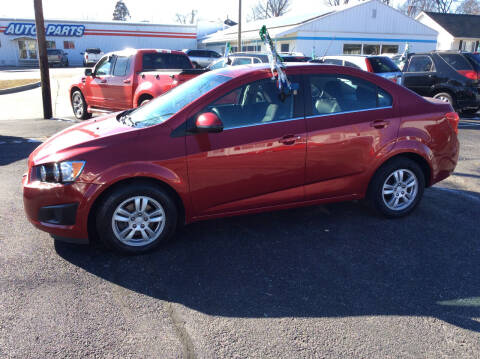2016 Chevrolet Sonic for sale at BISHOP MOTORS inc. in Mount Carmel IL