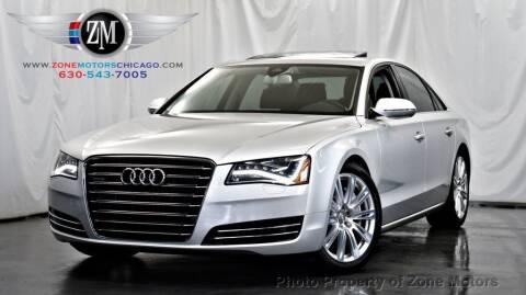 2012 Audi A8 for sale at ZONE MOTORS in Addison IL