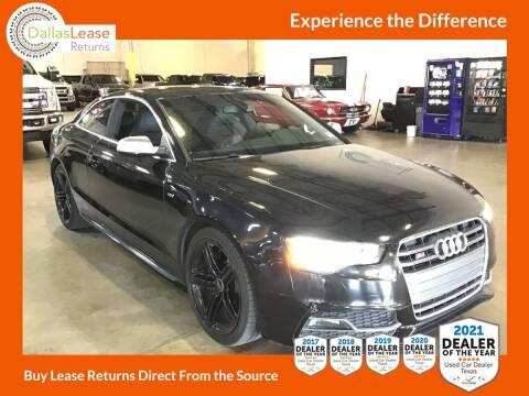 2013 Audi S5 for sale at Dallas Auto Finance in Dallas TX