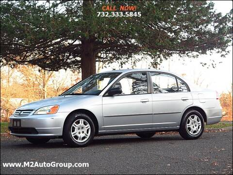 2002 Honda Civic for sale at M2 Auto Group Llc. EAST BRUNSWICK in East Brunswick NJ