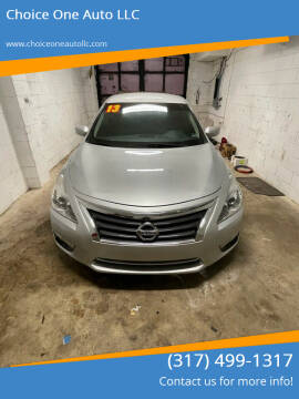 2013 Nissan Altima for sale at Choice One Auto LLC in Beech Grove IN