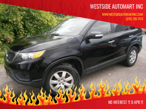 2013 Kia Sorento for sale at WESTSIDE AUTOMART INC in Cleveland OH
