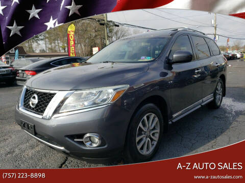 2013 Nissan Pathfinder for sale at A-Z Auto Sales in Newport News VA