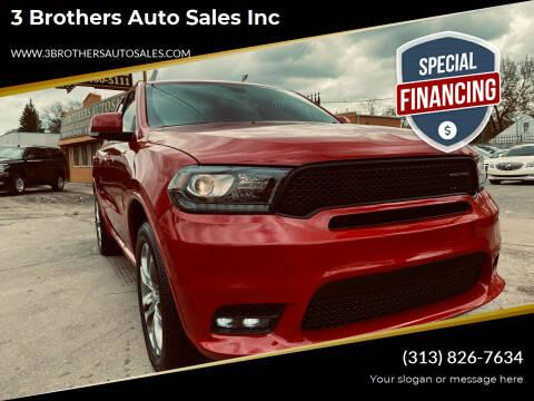 2019 Dodge Durango for sale at 3 Brothers Auto Sales Inc in Detroit MI