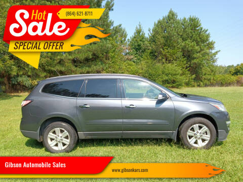2014 Chevrolet Traverse for sale at Gibson Automobile Sales in Spartanburg SC