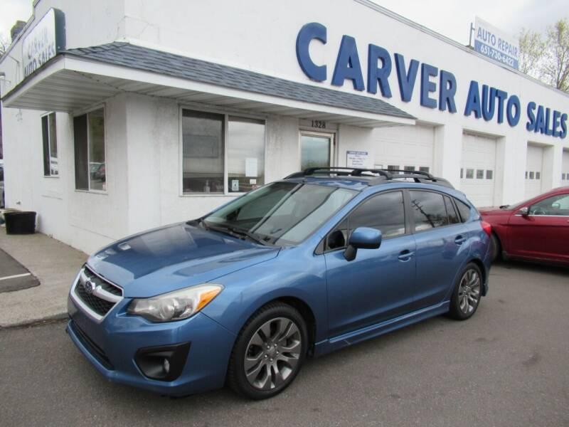 2014 Subaru Impreza for sale at Carver Auto Sales in Saint Paul MN