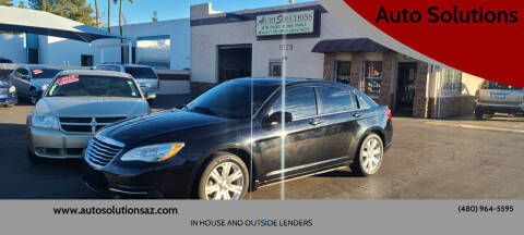 2013 Chrysler 200 for sale at Auto Solutions in Mesa AZ