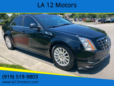 2012 Cadillac CTS for sale at LA 12 Motors in Durham NC