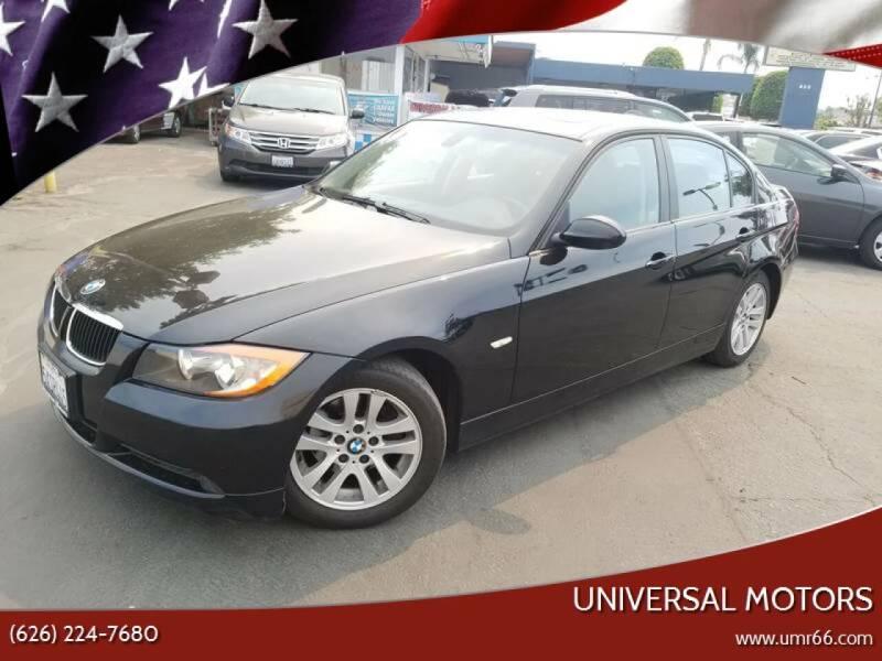 2007 BMW 3 Series for sale at Universal Motors in Glendora CA