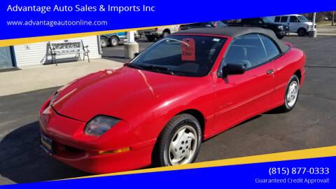 1995 Pontiac Sunfire for sale at Advantage Auto Sales & Imports Inc in Loves Park IL