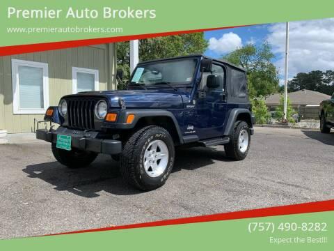 2006 Jeep Wrangler for sale at Premier Auto Brokers in Virginia Beach VA