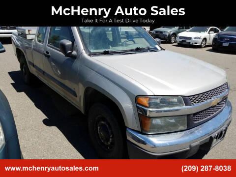 2006 Chevrolet Colorado for sale at McHenry Auto Sales in Modesto CA