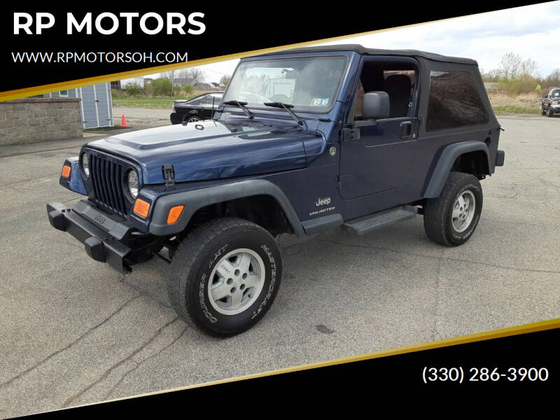 2005 Jeep Wrangler for sale at RP MOTORS in Canfield OH