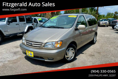 2001 Toyota Sienna for sale at Fitzgerald Auto Sales in Jacksonville FL