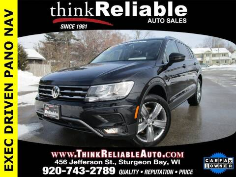 2020 Volkswagen Tiguan for sale at RELIABLE AUTOMOBILE SALES, INC in Sturgeon Bay WI
