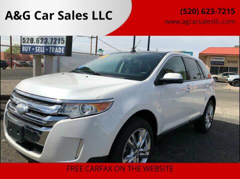 2013 Ford Edge for sale at A&G Car Sales  LLC in Tucson AZ