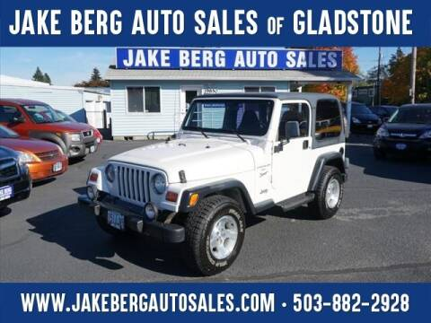 1999 Jeep Wrangler for sale at Jake Berg Auto Sales in Gladstone OR