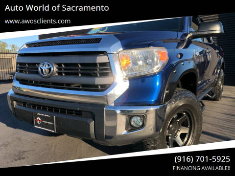 2015 Toyota Tundra for sale at Auto World of Sacramento Stockton Blvd in Sacramento CA