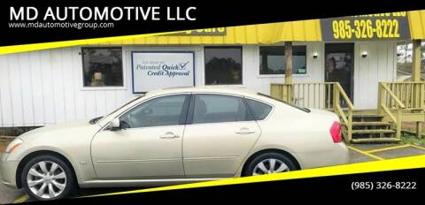2006 Infiniti M35 for sale at MD AUTOMOTIVE LLC in Slidell LA