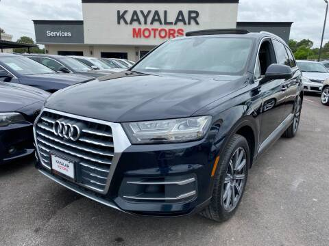 2017 Audi Q7 for sale at KAYALAR MOTORS in Houston TX